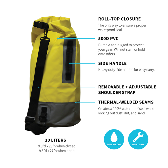 Infinite Waterproof Dry Bags 2-Pack