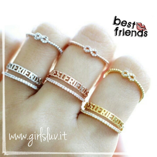 Best friend infinity ring set for Infinity ring jewelry store