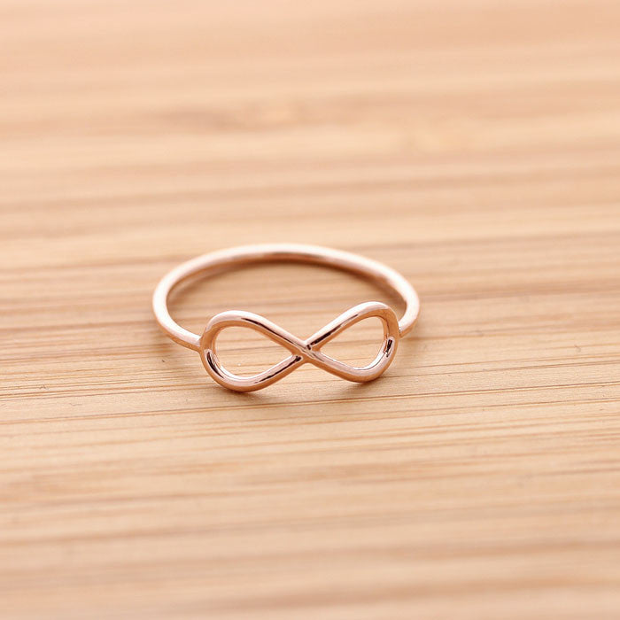 simple INFINITY ring, in pinkgold - girlsluv.it