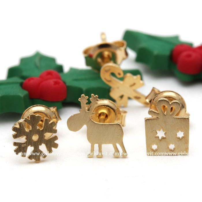 rudolph earrings set - girlsluv.it