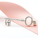 sterling silver, KEY pendent with LOVE - girlsluv.it  - 2
