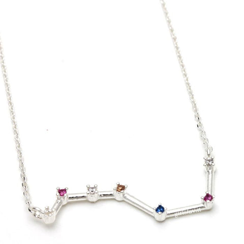 sterling silver, big dipper necklace - girlsluv.it