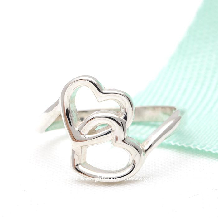 sterling silver, crossed open heart ring - girlsluv.it