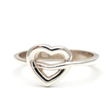 sterling silver, band ring, heart - girlsluv.it  - 1