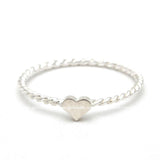 sterling silver, heart ring twisted - girlsluv.it  - 2