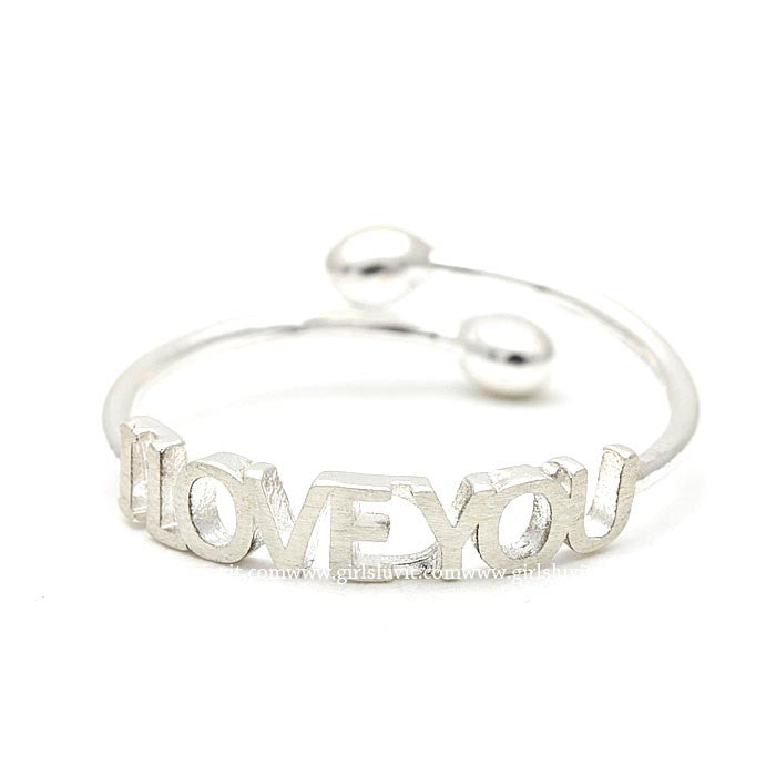 sterling silver, i love you ring - girlsluv.it  - 1