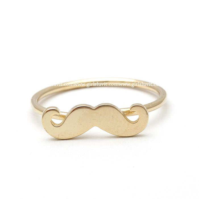 sterling silver, adjustable MUSTACHE ring - girlsluv.it  - 1