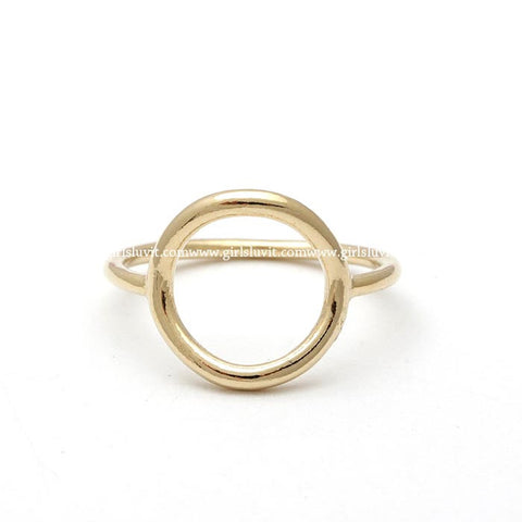 sterling silver, open circle(KARMA) ring 2 colors - girlsluv.it