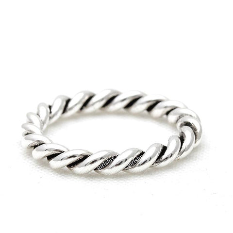 sterling silver, black twisted band ring - girlsluv.it