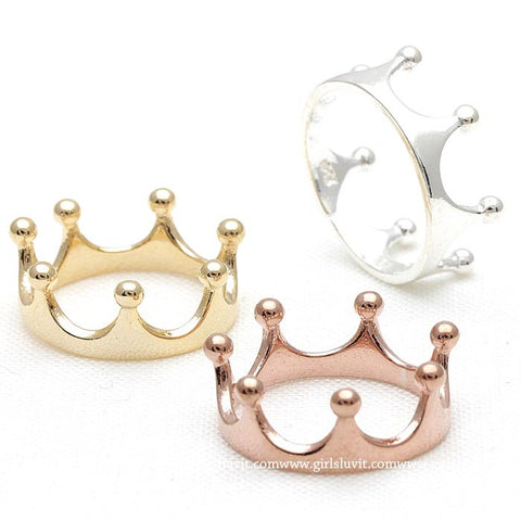 sterling silver, tiara ring - girlsluv.it  - 1