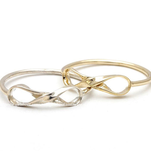 sterling silver, twisted infinity ring - girlsluv.it  - 1