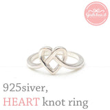 sterling silver, heart knot ring - girlsluv.it  - 2