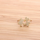 heart puzzle earrings - girlsluv.it  - 3