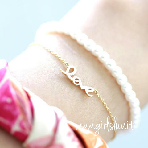 love bracelet with pearl - girlsluv.it  - 1