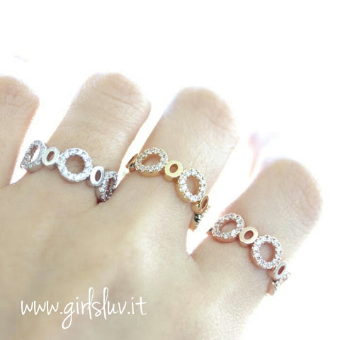 circle ring, crystals - girlsluv.it  - 1