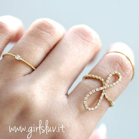 sideways infinity ring - girlsluv.it  - 1