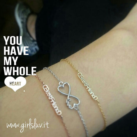 heart and infinity bracelet - girlsluv.it  - 1