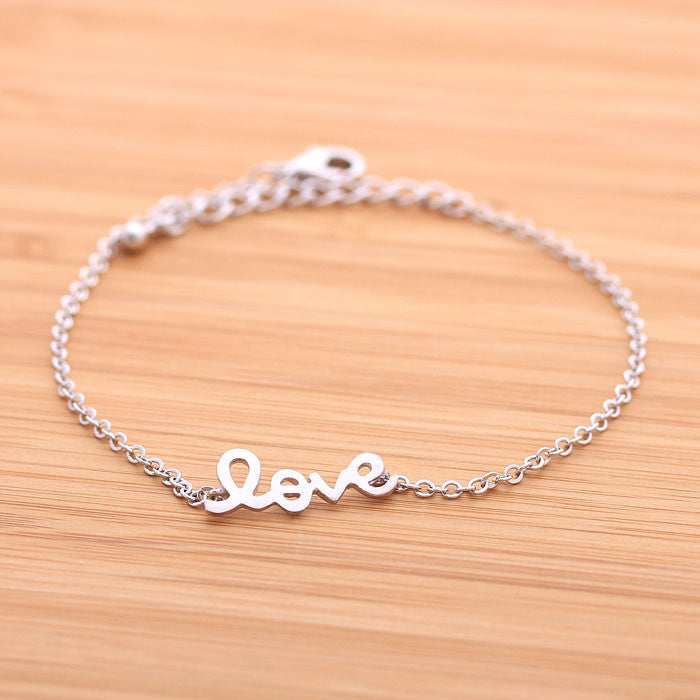 LOVE bracelet, in silver(plated, 925 sterling) - girlsluv.it