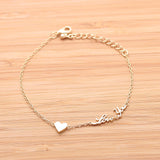 tiny HEART & love you bracelet, 3colors - girlsluv.it  - 3
