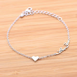 tiny HEART & love you bracelet, 3colors - girlsluv.it  - 2