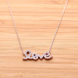 LOVE necklace with crystals, 2colors - girlsluv.it  - 3