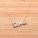 LOVE necklace with crystals, 2colors - girlsluv.it  - 2