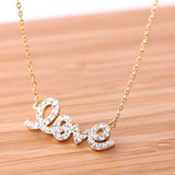 LOVE necklace with crystals, 2colors - girlsluv.it  - 1