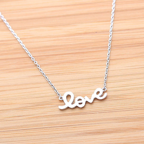 LOVE necklace, in silver(plated, 925 sterling) - girlsluv.it  - 1