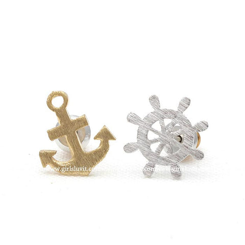 anchor and nautical earrings - girlsluv.it  - 1