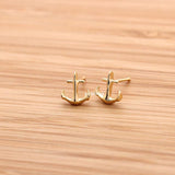 tiny anchor earrings - girlsluv.it  - 2