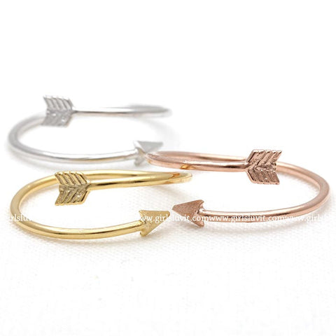 arrow ring, adjustable - girlsluv.it  - 1