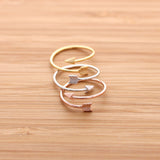 arrow ring, adjustable - girlsluv.it  - 3