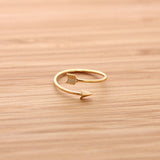 arrow ring, adjustable - girlsluv.it  - 2