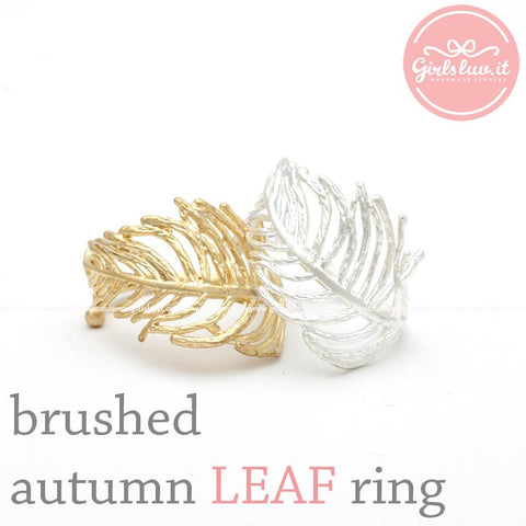 autumn LEAF adjustable ring, 2 colors - girlsluv.it  - 1