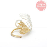 autumn LEAF adjustable ring, 2 colors - girlsluv.it  - 2