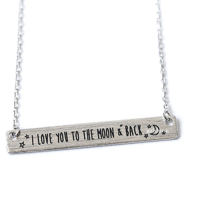 i love you to the moon and back necklace - girlsluv.it