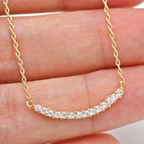 bar necklace, crystals - girlsluv.it  - 1