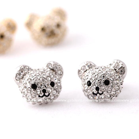bear earrings - girlsluv.it  - 1