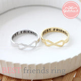best friends infinity ring, brushed - girlsluv.it  - 2