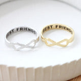 best friends infinity ring, brushed - girlsluv.it  - 1