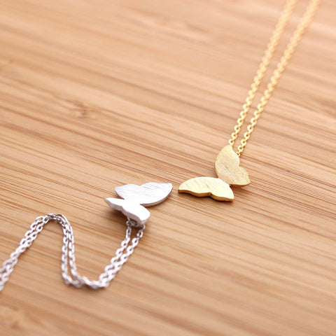BUTTERFLY necklace,  2 colors - girlsluv.it