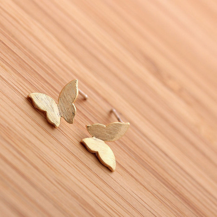BUTTERFLY stud earrings, 2 colors - girlsluv.it  - 1