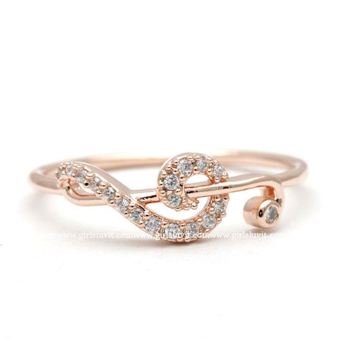 clef ring, crystals - girlsluv.it  - 1