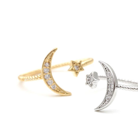 crest and star ring, adjustable - girlsluv.it  - 1