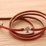 CROSS with wrap bracelet, 4 colors - girlsluv.it  - 5