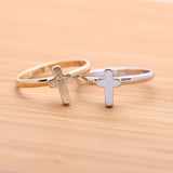 simple tiny CROSS adjustable ring, 3 colors - girlsluv.it  - 2