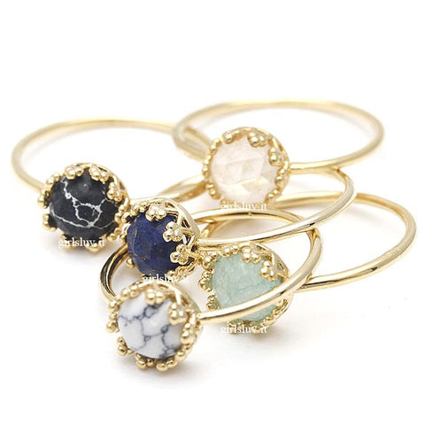 crown ring, gemstone - girlsluv.it