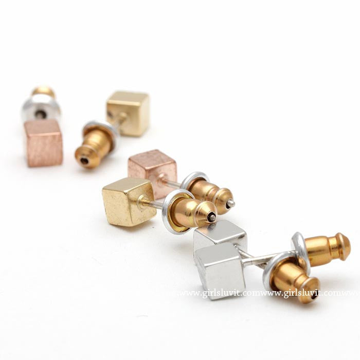 cube earrings - girlsluv.it