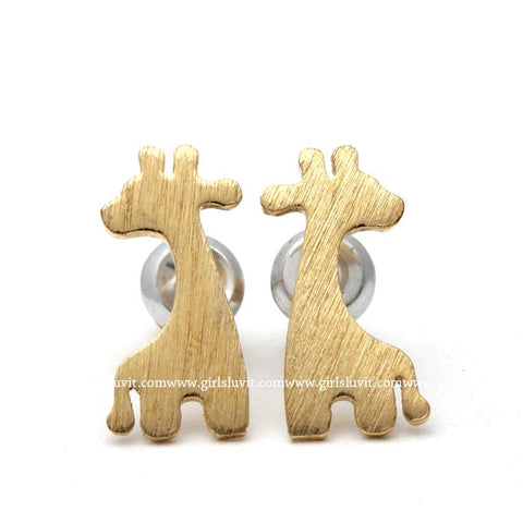 cute giraffe earrings - girlsluv.it  - 1