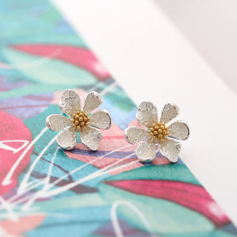 flower earrings, daisy - girlsluv.it
